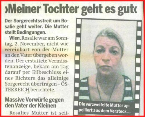Mutter von der gesuchten Rosalie Kratochwil (2 Jahre)