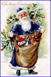 Wofür steht der blaue Weihnachtsmann ?