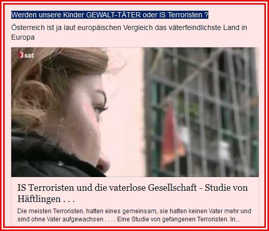 Vaterlose Gesellschaft - Terroristen - Studie - absent father syndrome