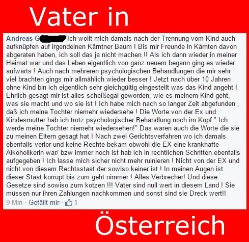 Vater in Österreich - vaterlose Gesellschaft