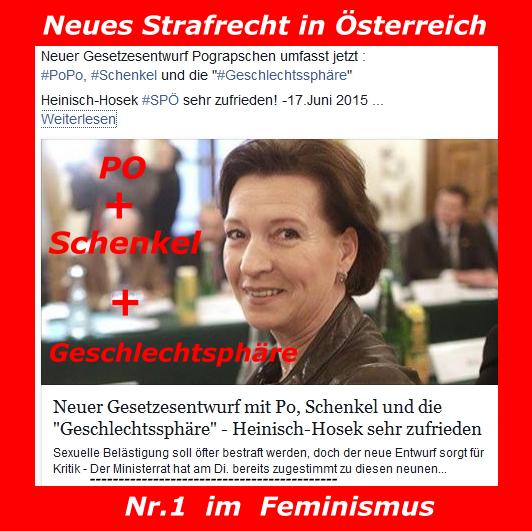 Pograpschen - Geschlechtsphäre - §218 StGB - Feminismus - Heinisch-Hosek SPÖ - Ministerrat - Sexuelle Belästigung