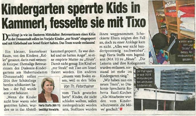 Kindesmissbrauch in Wiener Kindergarten