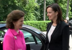 Schwedische Königin Silvia und Familienministerin Sophie Karmasin