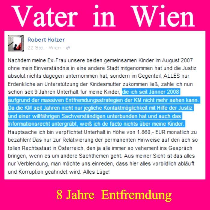 Justiz - Entfremdung - Vater Wien