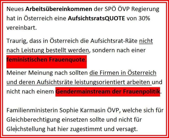 SPÖ ÖVP feministisches Arbeitsübereinkommen 2017