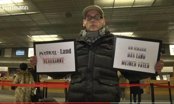 Merkel-Land-verbrannt
