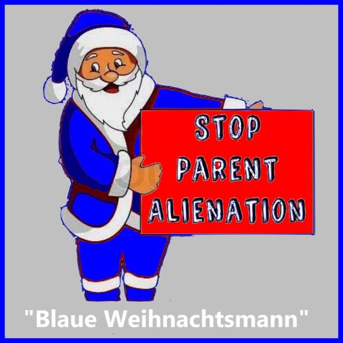 blaue Weihnachtsmann