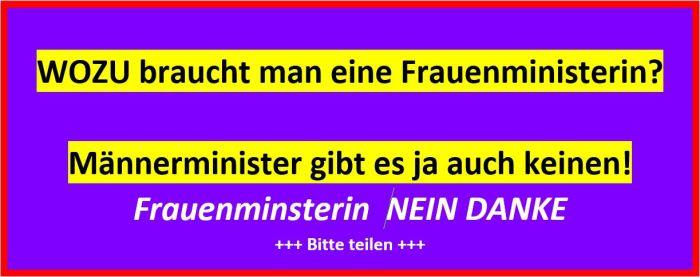 Frauenministerin Nein Danke!