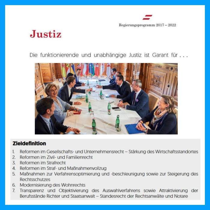 Justiz - Regierungsprogramm ÖVP FPÖ 2017