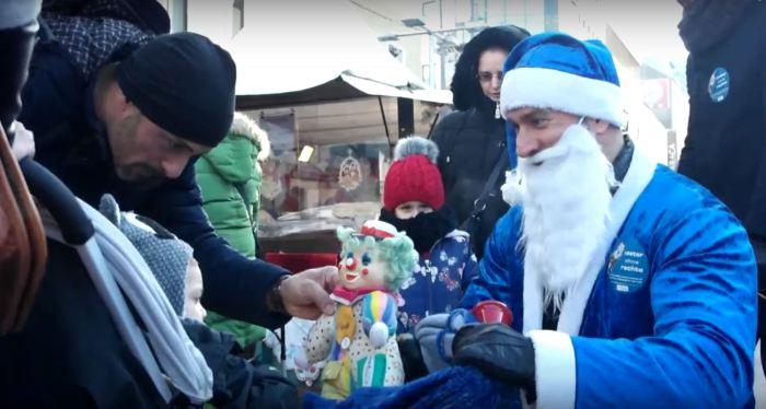 Väter ohne Rechte - blauer Weihnachtsmann