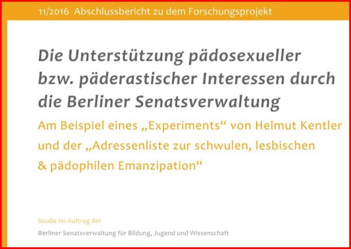 Unterstützung pädosexueller bzw. päderastischer Interessen durch die Berliner Senatsverwaltung