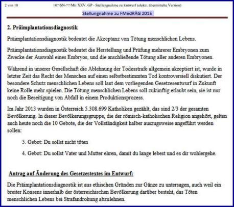 Stellungnahme zu FMedRÄG 2015