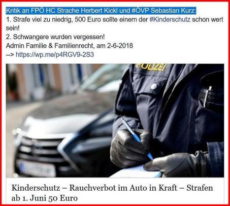 Kritik an Sebastian Kurz HC Strache Kinderschutz