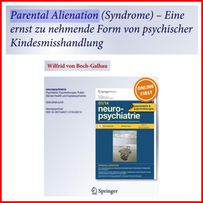 Parental Alienation - psychische Kindesmisshandlung