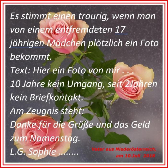 Sophie - Entfremdung - Vater aus Niederösterreich