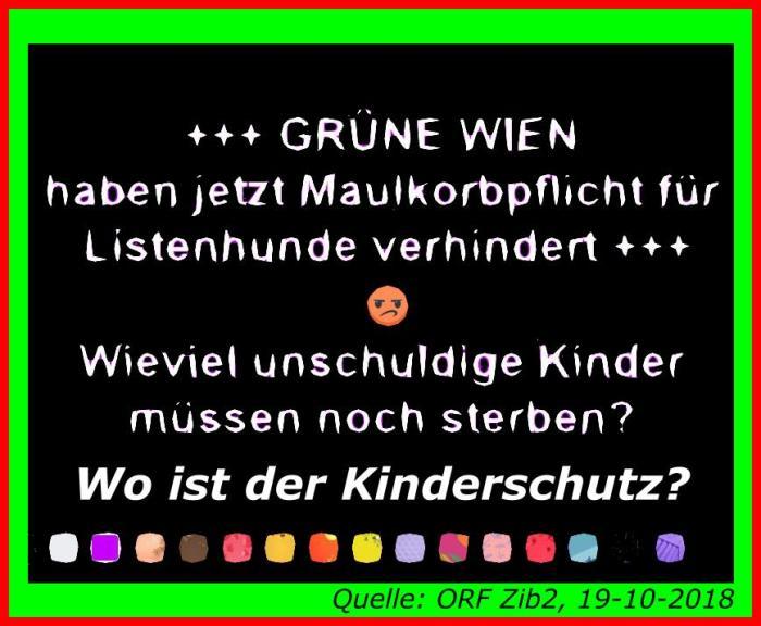 Die Grünen Wien verhindern Kinderschutz !!!