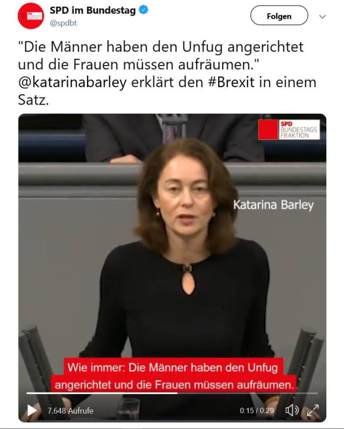 SPD Katarina Barley - Hassposting gegen Männer