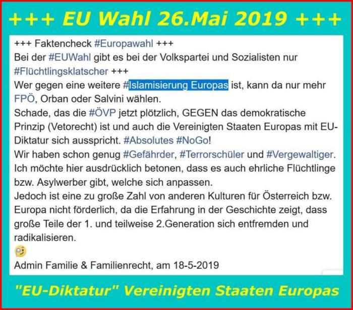 Eu-Wahl Vereinigte Staaten Europas ÖVP
